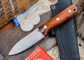 L.T. Wright Knives: Genesis - Desert Ironwood - Flat Ground - A2 Steel - #31