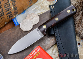 L.T. Wright Knives: Genesis - Desert Ironwood - Flat Ground - A2 Steel - #33
