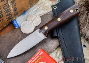 L.T. Wright Knives: Genesis - Desert Ironwood - Flat Ground - A2 Steel - #36
