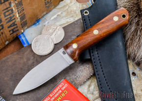 L.T. Wright Knives: Genesis - Desert Ironwood - Flat Ground - A2 Steel - #40