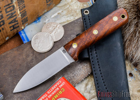 L.T. Wright Knives: Genesis - Desert Ironwood - Flat Ground - A2 Steel - #41