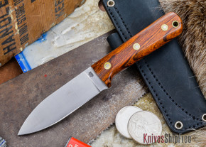 L.T. Wright Knives: Genesis - Desert Ironwood - Flat Ground - A2 Steel - #44