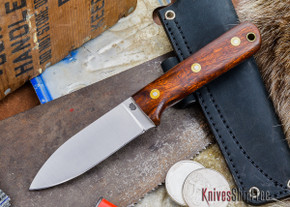L.T. Wright Knives: Genesis - Desert Ironwood - Flat Ground - A2 Steel - #46