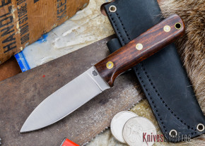 L.T. Wright Knives: Genesis - Desert Ironwood - Flat Ground - A2 Steel - #48