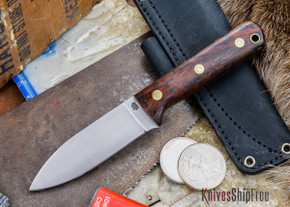 L.T. Wright Knives: Genesis - Desert Ironwood - Flat Ground - A2 Steel - #49
