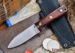 L.T. Wright Knives: Genesis - Desert Ironwood - Flat Ground - A2 Steel - #50