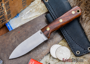 L.T. Wright Knives: Genesis - Desert Ironwood - Flat Ground - A2 Steel - #56