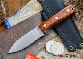 L.T. Wright Knives: Genesis - Desert Ironwood - Flat Ground - A2 Steel - #57