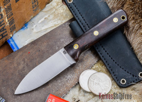 L.T. Wright Knives: Genesis - Desert Ironwood - Flat Ground - A2 Steel - #58