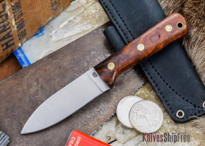 L.T. Wright Knives: Genesis - Desert Ironwood - Flat Ground - A2 Steel - #63