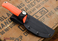 Benchmade Knives: 15009-ORG - Steep Country Hunter - Orange Santoprene - Gut Hook