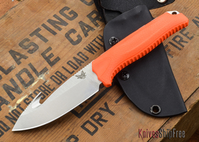 Benchmade Knives: 15009-ORG - Steep Country Hunter - Orange Santoprene - Gut Hook