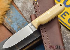 L.T. Wright Knives: Bushcrafter - Snakeskin Micarta - Flat Ground - A2 Steel