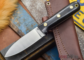 L.T. Wright Knives: Genesis - Black Micarta - Flat Ground - A2 Steel