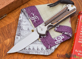 Chris Reeve Knives: Small Sebenza 21 - Bocote - L