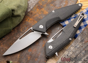 Brous Blades: Division Flipper - Carbon Fiber - Stonewashed Finish