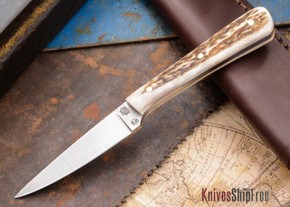 L.T. Wright Knives: Coyote - Stag - Flat Ground - D2 Steel - #10