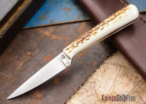 L.T. Wright Knives: Coyote - Stag - Flat Ground - D2 Steel - #20