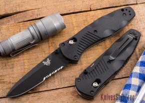 Benchmade Knives: 580SBK Barrage - Black Blade - Serrated