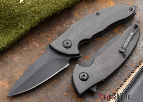 Brous Blades: Caliber - Carbon Fiber Handles - Blackout Finish