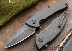 Brous Blades: Caliber - Carbon Fiber Handles - Acid Stonewash Finish
