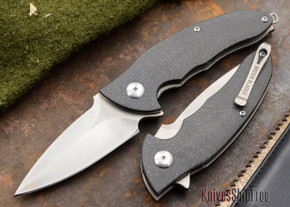 Brous Blades: Caliber - Carbon Fiber Handles - Satin Finish
