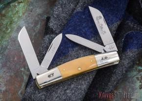 Queen Cutlery: #32 - Four-blade Congress - D2 Steel - Mammoth Ivory - 012910