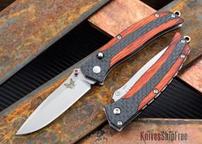 Benchmade Knives: 482 Megumi - Cocobolo - Carbon Fiber - Nak-Lok