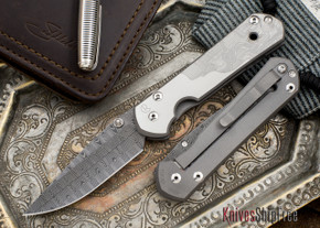 Chris Reeve Knives: Large Sebenza 21 - CGG Basketweave Damascus