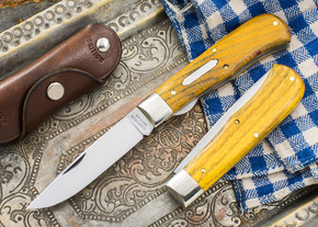 Great Eastern Cutlery: #73 - Tidioute - Trapper - Liner Lock - Osage Orange