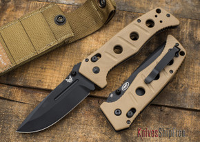 Benchmade Knives: 275BKSN Adamas - Black Blade - Tan G-10