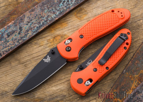 Benchmade Knives: 551BK-ORG Griptilian - Modified Drop Point - Black Blade - Orange Handle