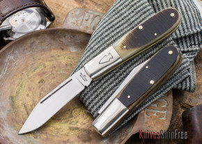 Northwoods Knives: Everyday Barlow - Clip Point - Brown Saw-Cut Bone