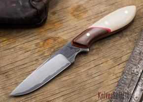 Carter Cutlery: Original Neck Knife - Brown & White Paper Micarta