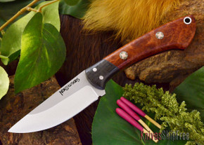 Northwoods Knives: Iron River - Amboynia Burl - Red Liner - Mosaic