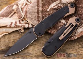 Spartan Blades: Akribis - Black Blade - Flat Dark Earth Hardware - Black G-10 Handles