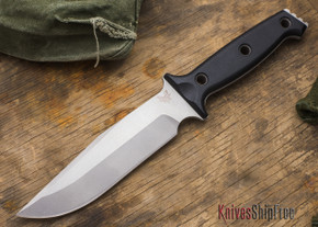Benchmade Knives: 119 Arvensis - Fixed Blade - Black G-10 Handles