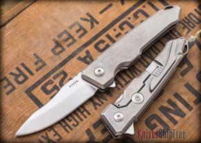 Spartan Blades: Metis - Stonewashed Finish - Titanium Framelock