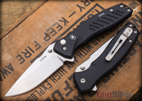 Spartan Blades: Pallas - Stonewashed Finish - Black Anodized Frame