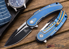 Todd Begg Knives: Steelcraft Series - Mini-Bodega - Blue & Gold Finish