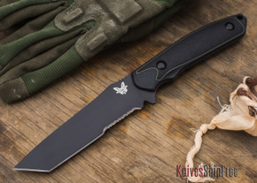 Benchmade Knives: 167SBK Protagonist - Tanto - Partially Serrated Black Blade