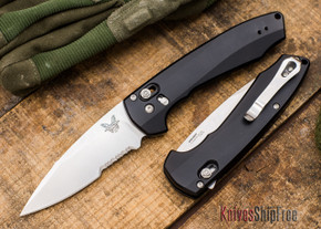 Benchmade Knives: 490S Amicus - AXIS Assist Flipper - Partially Serrated - CPM S90V