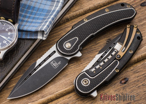 Todd Begg Knives: Steelcraft Series - Mini-Bodega - Black & Gold Finish
