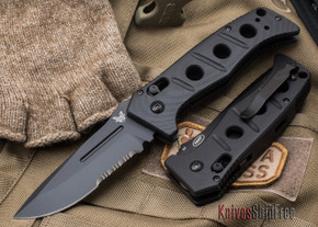Benchmade Knives: 2750SBK Adamas Auto - Serrated Black Blade