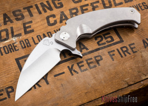 Medford Knife & Tool: FUK Flipper - Tumbled Titanium - Tumbled Finish