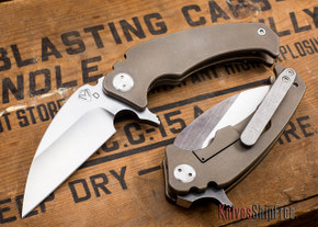 Medford Knife & Tool: FUK Flipper - Bronze Titanium - Tumbled Finish