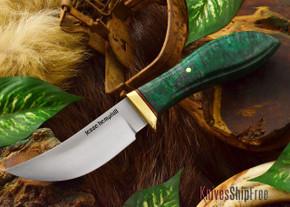 Jesse Hemphill Knives: DeKalb Series - High Falls - Green Elder Burl - #4