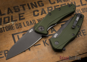 Zero Tolerance: ZT0770ODBLK - Assisted - OD Green Aluminum - CPM S35VN - Black DLC Finish