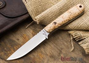 Cross Knives: Lil Trapper Knife - Masur Birch - Black Liners - Mosaic Pins
