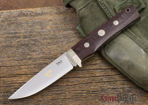 Fallkniven: TK1 - Tre Kroner - Maroon Micarta - 3G Steel - Leather Sheath